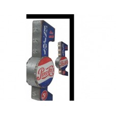 Marquee Sign Pepsi tin metal sign