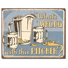 Schoenberg What's Wrong tin metal sign