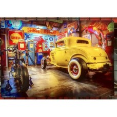 Yellow 1932 Coupe metal tin sign